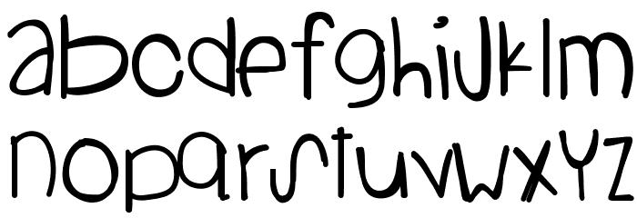 StandingOnTheSun Font LOWERCASE