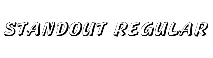 Standout Regular  Скачать бесплатные шрифты