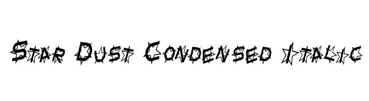 Star Dust Condensed Italic  Frei Schriftart Herunterladen