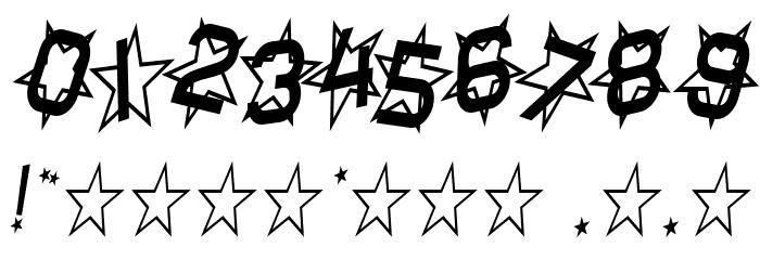 Star Dust Condensed Italic Schriftart Anderer Schreiben