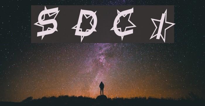 Star Dust Condensed Italic Schriftart examples