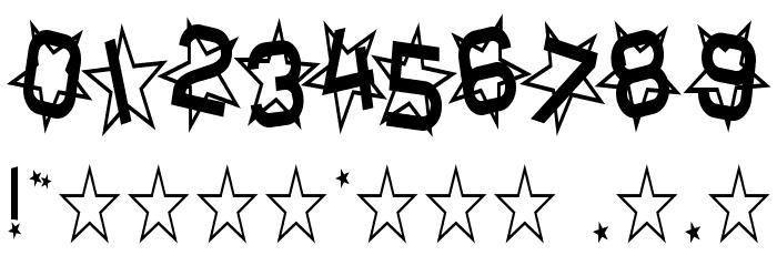 Star Dust Condensed Schriftart Anderer Schreiben