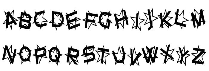 Star Dust Condensed Schriftart Kleinbuchstaben
