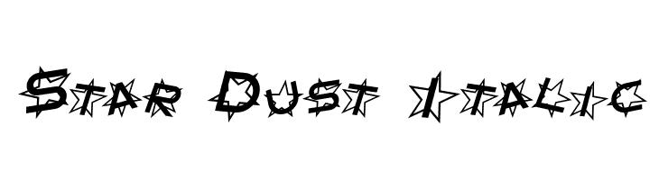Star Dust Italic  Frei Schriftart Herunterladen