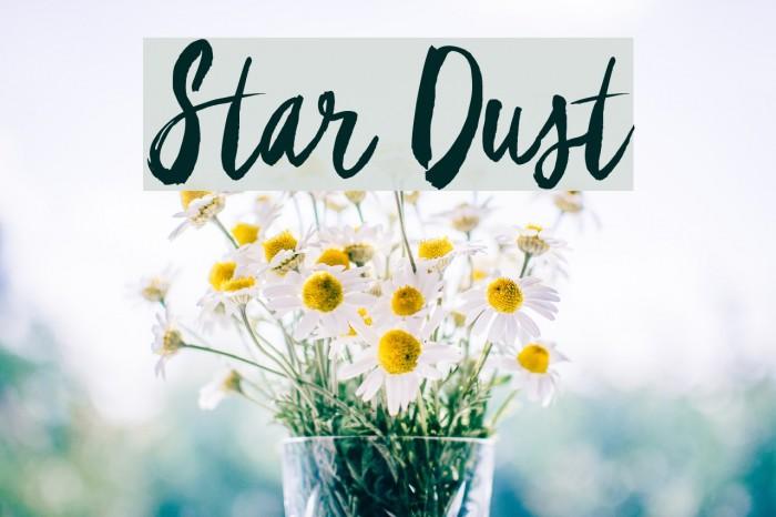 Star Dust Schriftart examples