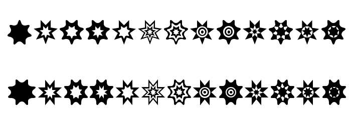 Star Things 2 Font UPPERCASE