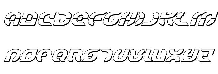 Starfighter Bold 3D Italic Font UPPERCASE