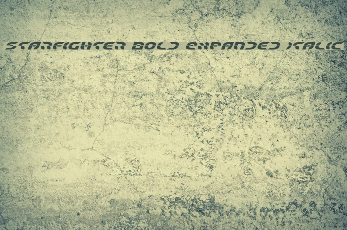 Starfighter Bold Expanded Italic Font examples