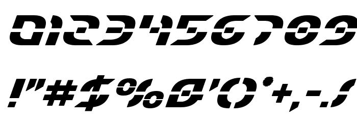 Starfighter Bold Italic Font OTHER CHARS