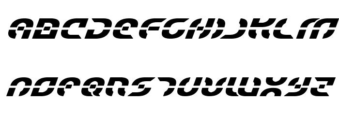 Starfighter Bold Italic Font UPPERCASE