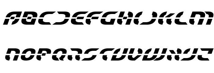 Starfighter Bold Italic Font LOWERCASE