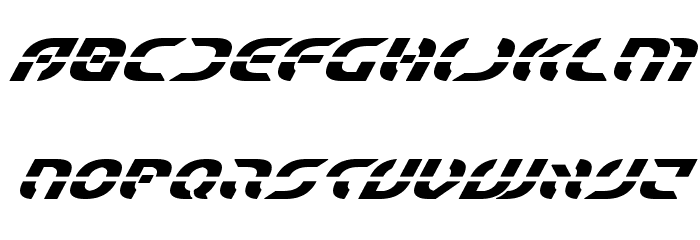 Starfighter Bold Super-Italic Font LOWERCASE