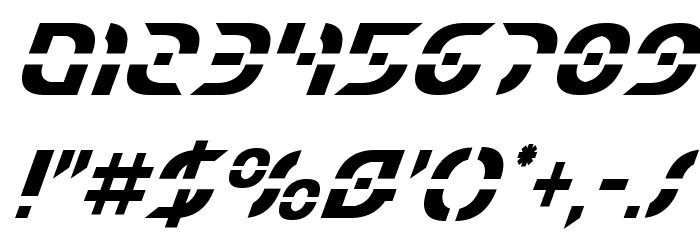 Starfighter Condensed Italic フォント その他の文字