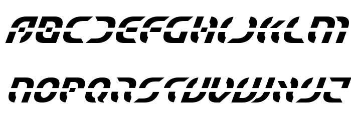 Starfighter Condensed Italic フォント 小文字