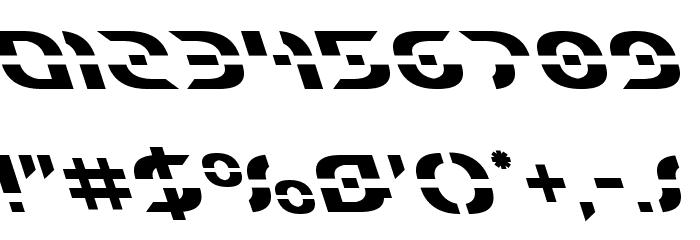 Starfighter Leftalic フォント その他の文字