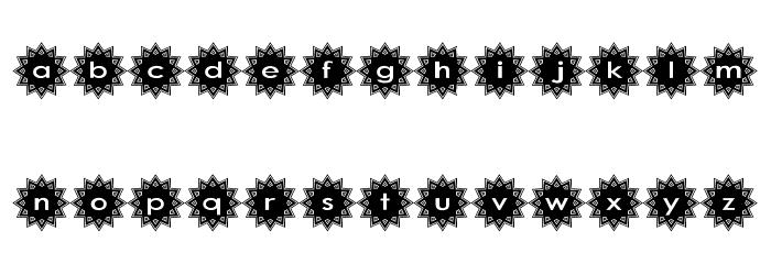 Stargit Schriftart Kleinbuchstaben