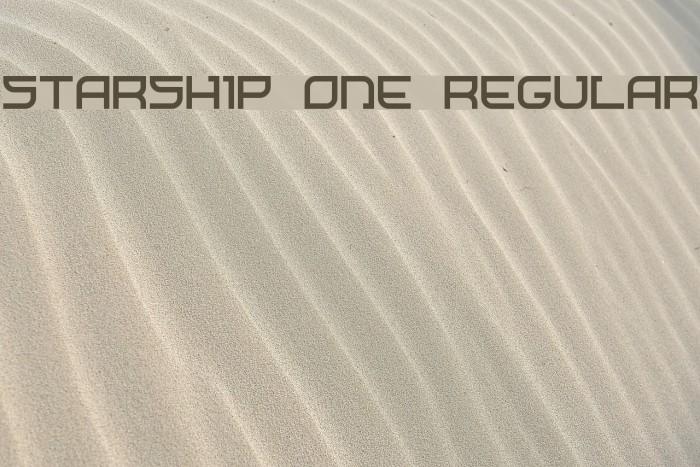 Starship One Regular Font examples