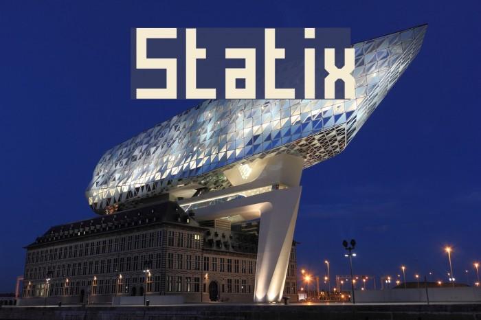 Statix Font examples