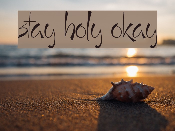 Stay Holy Okay Font examples