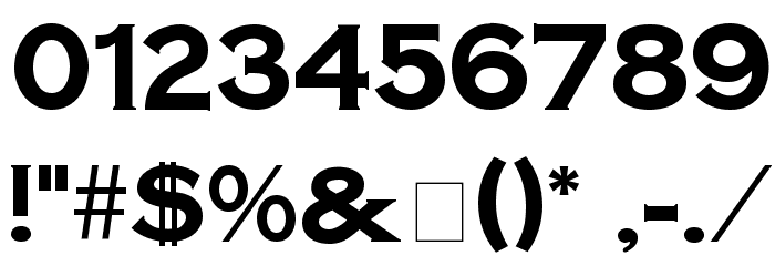 SteelplateGothicBold normal Font OTHER CHARS