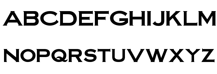 SteelplateGothicBold normal Font LOWERCASE