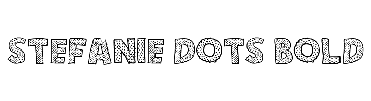 Stefanie Dots Bold  baixar fontes gratis