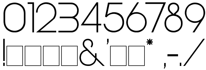 Steiner Light Font OTHER CHARS