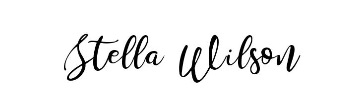 Stella Wilson  Descarca Fonturi Gratis