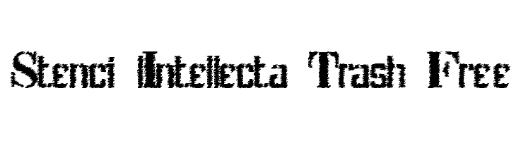 Stenci lIntellecta Trash Free  Free Fonts Download