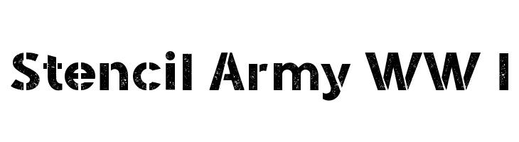 Stencil Army WW I  Fuentes Gratis Descargar
