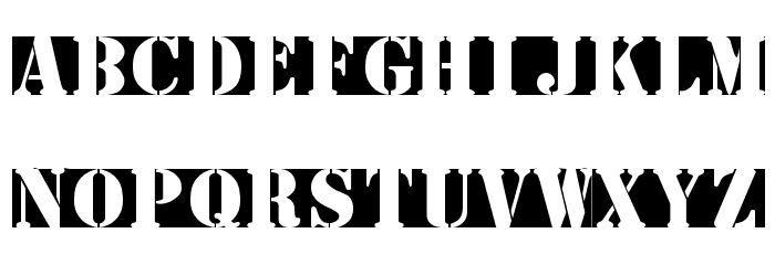 StencilBricksMK Font UPPERCASE