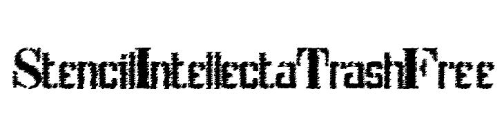 StencilIntellectaTrashFree  Frei Schriftart Herunterladen