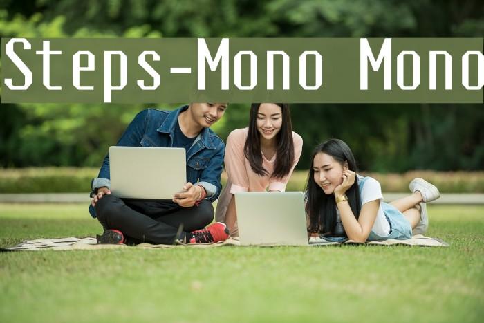 Steps-Mono Mono Font examples