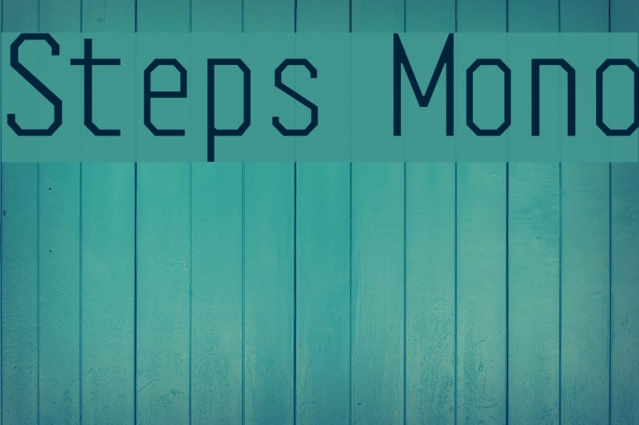 Steps Mono Font examples