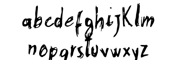 Stobau フォント 小文字