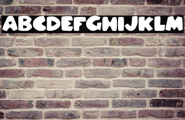 Stompy Italic Font examples