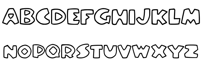 Stompy Font UPPERCASE