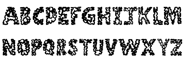 Stone Age Font UPPERCASE