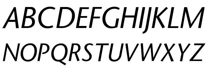 StoneSans Italic Font UPPERCASE