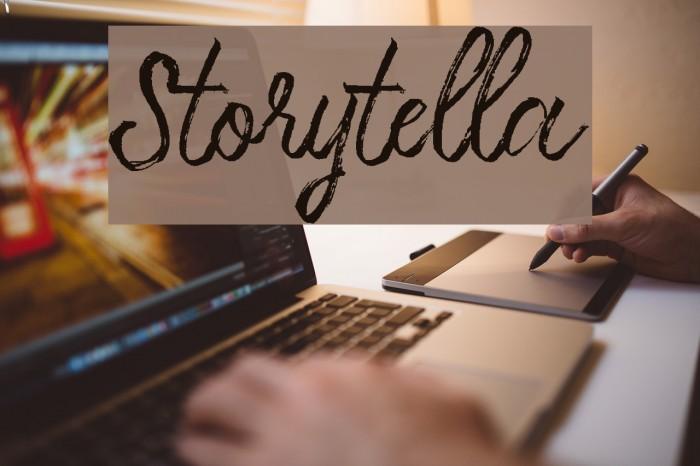 Storytella Шрифта examples