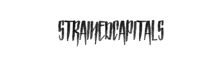 Strained Capitals  Free Fonts Download