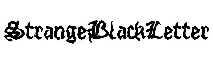 StrangeBlackLetter  नि: शुल्क फ़ॉन्ट्स डाउनलोड