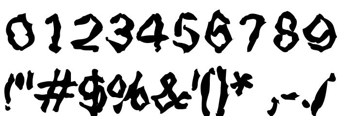StrangeBlackLetter Шрифта ДРУГИЕ символов