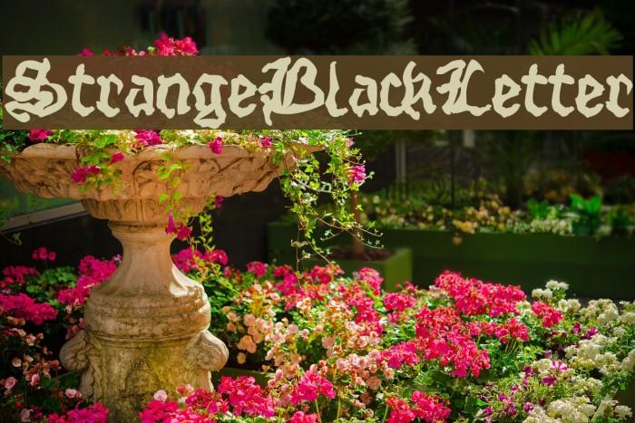 StrangeBlackLetter Шрифта examples