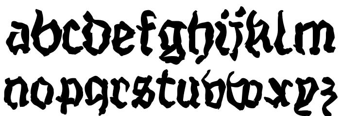 StrangeBlackLetter Шрифта строчной
