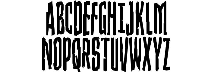Stranger Danger Condensed Font UPPERCASE