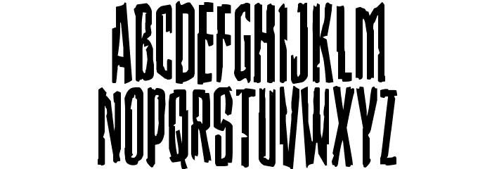 Stranger Danger Condensed Font LOWERCASE