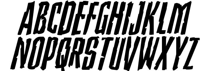 Stranger Danger Expanded Italic Font LOWERCASE
