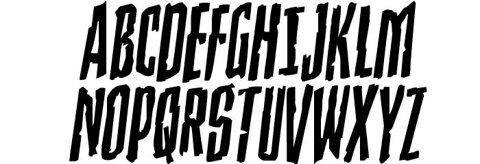 Stranger Danger Rotalic Font UPPERCASE