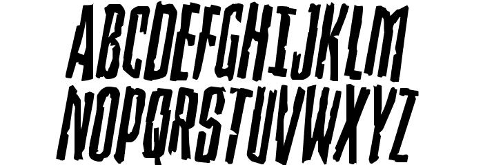 Stranger Danger Rotated Font UPPERCASE